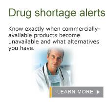 Drug Shortage Alerts