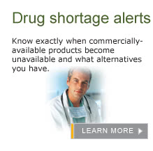 Drug Shortage Alerts